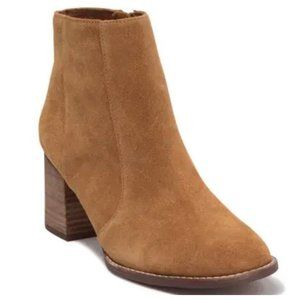 Madewell Bryce Tan Suede Stacked Heel Chelsea Boot